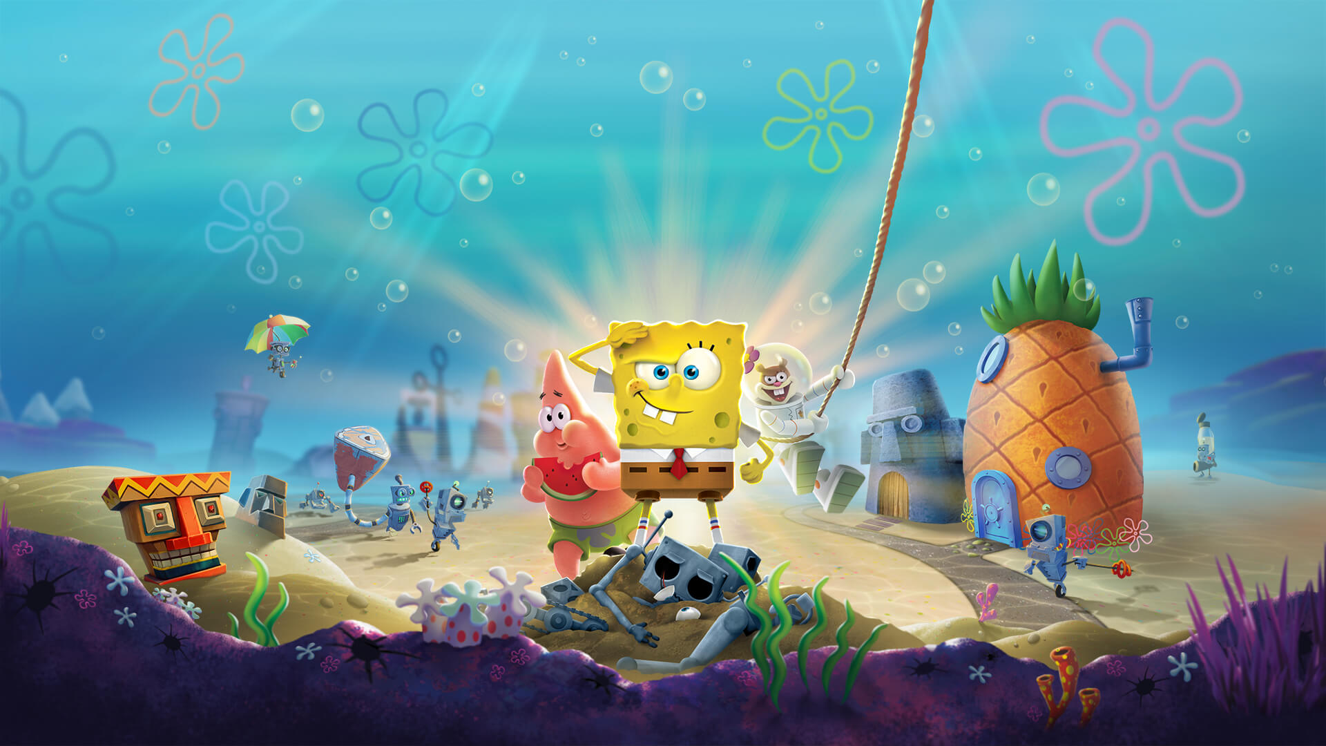 bottom bikini for squarepants Sponge battle